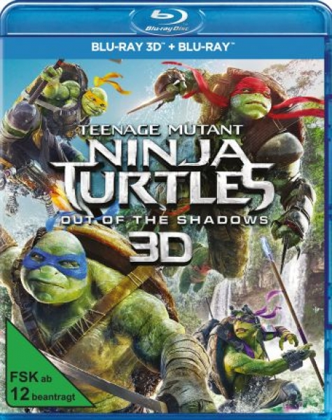 Teenage Mutant Ninja Turtles: Out of the Shadows 3D  (3D blu-ray)