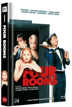 Four Rooms - Uncut Mediabook Edition  (DVD+blu-ray) (B)