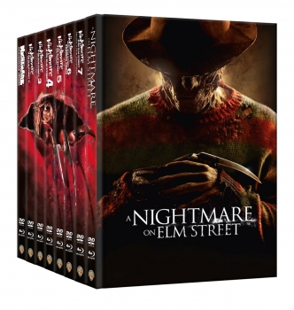 Nightmare on Elm Street, A - Teil 1-8 - Wattierte Mediabook Collection  (DVD+blu-ray)