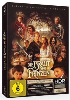 Braut des Prinzen, Die - Limited Mediabook Edition  (DVD+bluray+4K Ultra HD)