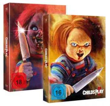 Chucky 2 + 3 - Uncut - Piece of Art Combo Box  (blu-ray)