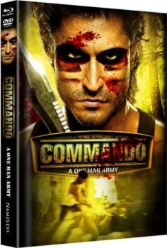 Commando - One Man Army - Uncut Mediabook Edition  (DVD+blu-ray) (B)