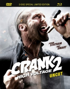 Crank 2 - High Voltage - Uncut Mediabook Edition  (DVD+blu-ray)
