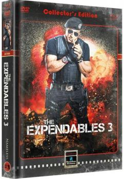 Expendables 3, The - A Mans Job - Uncut Extended Mediabook Edition  (DVD+blu-ray) (Cover B - Retro)