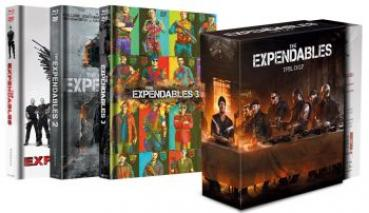 Expendables, The 1-3 - Uncut Mediabook Schuber Edition  (DVD+blu-ray)