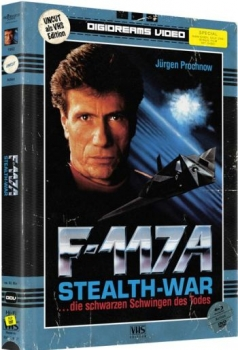 F-117 A - Stealth-War - VHS Design Edition - Uncut Mediabook Edition (DVD+blu-ray)