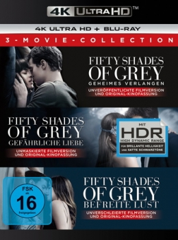 Fifty Shades of Grey - 3 Movie Collection  (4K Ultra HD)