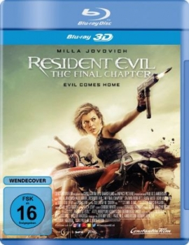 Resident Evil: The Final Chapter 3D (3D blu-ray)