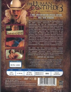 Human Centipede 3, The - Final Sequence - Uncut Mediabook Edition  (DVD+blu-ray) (A)