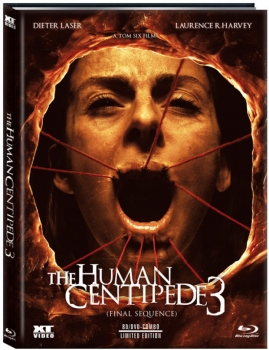 Human Centipede 3, The - Final Sequence - Uncut Mediabook Edition  (DVD+blu-ray) (B)