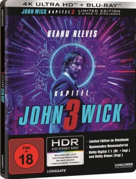 John Wick: Kapitel 3 - Limited Uncut Edition  (4K Ultra HD)