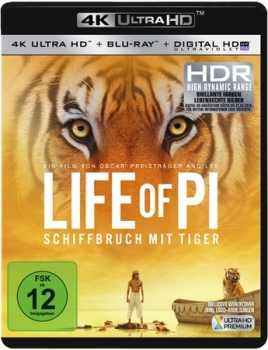 Life of Pi - Schiffbruch mit Tiger  (4K Ultra HD)