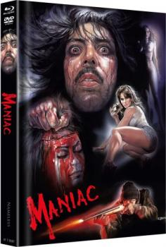 Maniac - Das Original - Uncut Mediabook Edition  (DVD+blu-ray+4K Ultra HD) (Cover Sciotti)