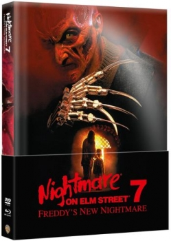 Nightmare on Elm Street 7 - Freddys New Nightmare - Uncut Mediabook Edition (Wattiert)  (DVD+blu-ray)