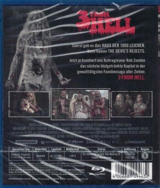 3 From Hell - Uncut R-Rated Edition (blu-ray)