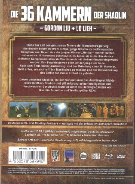 36 Kammern der Shaolin, Die - Shaw Brothers Collection 7  (DVD+blu-ray)