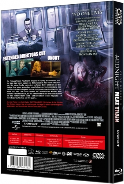 Midnight Meat Train, The - Uncut Mediabook Edition  (DVD+blu-ray) (F)