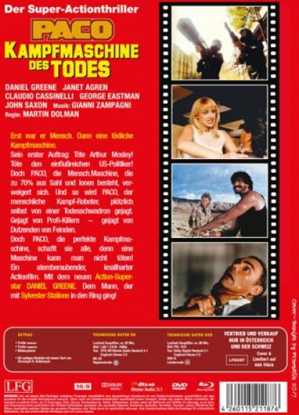 Paco - Kampfmaschine des Todes - Uncut Mediabook Edition (DVD+blu-ray) (A)