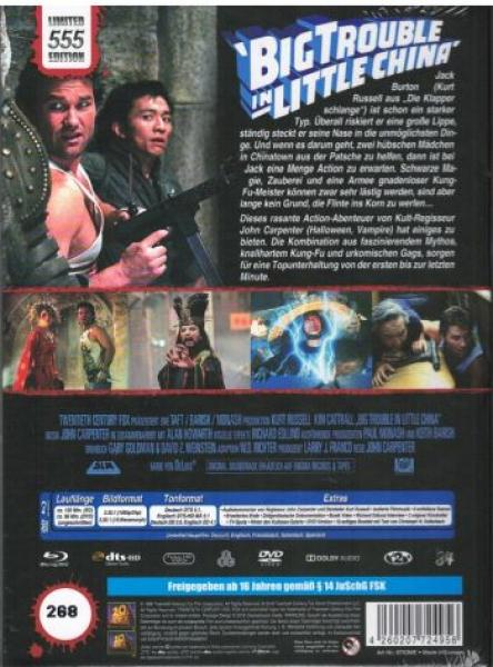 Big Trouble in Little China - Uncut Mediabook Edition  (DVD+blu-ray) (E)