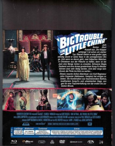 Big Trouble in Little China - Uncut Mediabook Edition  (DVD+blu-ray)