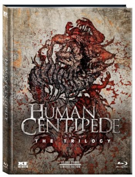 Human Centipede 1-3 - The Trilogy - Uncut Mediabook Edition  (blu-ray)