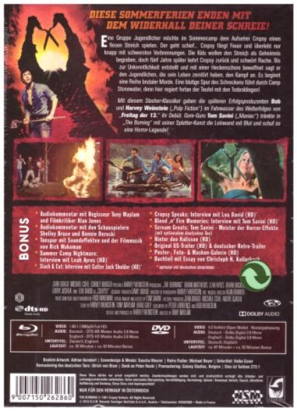 Burning, The - Brennende Rache - Uncut Mediabook Edition  (DVD+blu-ray) (B)