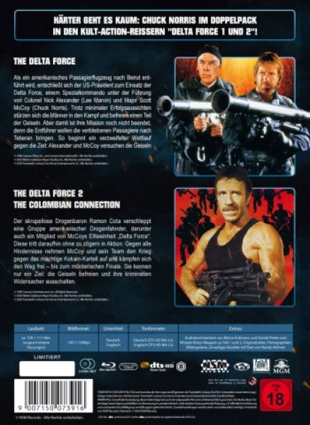 Delta Force 1+2 - Uncut Mediabook Edition  (blu-ray)