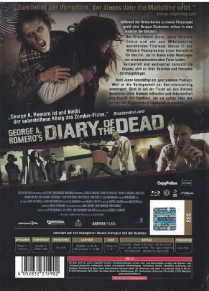 Diary of the Dead - Uncut Mediabook Edition  (blu-ray) (Cover Girl)