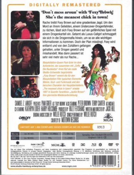 Foxy Brown - Uncut Mediabook Edition  (DVD+blu-ray)