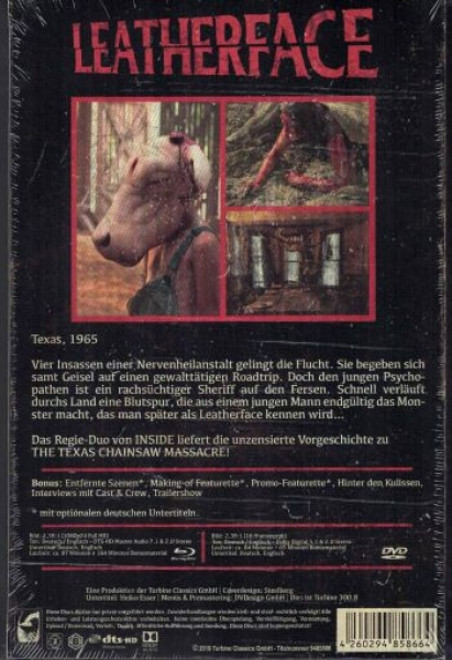 Leatherface - Uncut VHS Design Edition  (DVD+blu-ray)