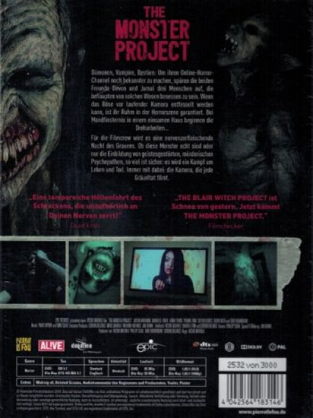 Monster Project, The - Uncut Mediabook Edition (DVD+blu-ray)