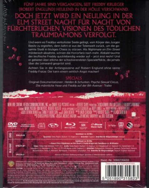 Nightmare on Elm Street 2 - Die Rache - Uncut Mediabook Edition (Wattiert)  (DVD+blu-ray)
