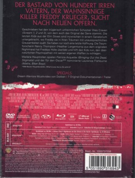 Nightmare on Elm Street 3 - Freddy Krueger lebt - Uncut Mediabook Edition (DVD+blu-ray)