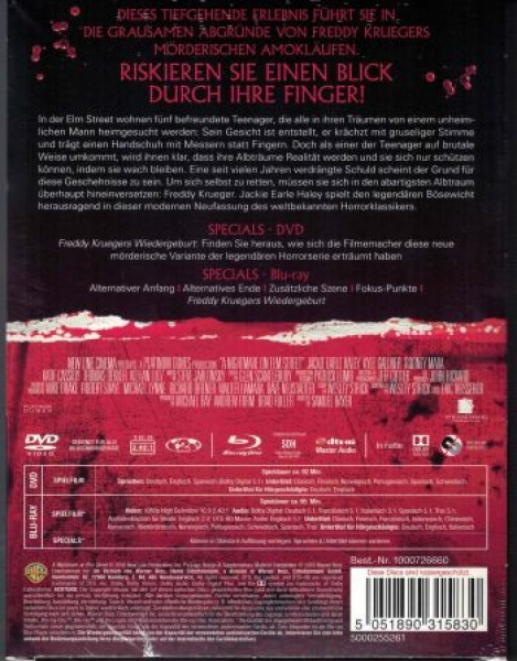 Nightmare on Elm Street, A (2010) - Uncut Mediabook Edition (Wattiert)  (DVD+blu-ray)