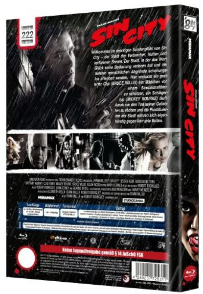 Sin City - Uncut Mediabook Edition  (blu-ray) (E)